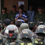 President Rodrigo Roa Duterte attends a command briefing at the 103rd Brigade Camp in Lumbayanague town, Lanao del Sur on November 30,2016. TOTO LOZANO/Presidential Photo