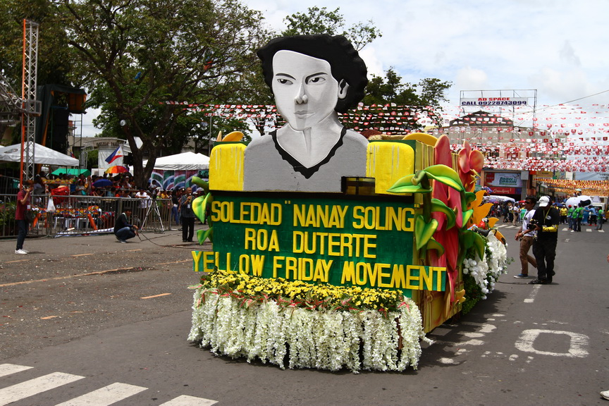 One of the eight floats that depict the history of Davao from the time of Datu Bago until the present day Davao rolls along San Pedro Street during 80th Araw ng Davao Parada Dabawenyo on Thursday, March 16. Newsline Photo