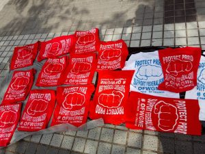 SOUVENIR: T-shirts for tatay Digong they have their t;shirts printed  but they know they cannot wear it during the meeting.